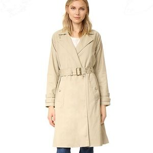 Frame Atelier classic trench coat in Camel size S